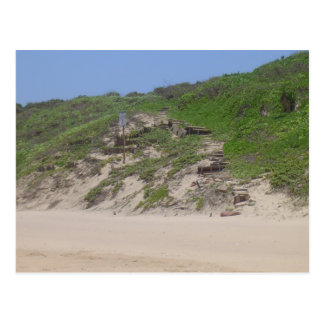 Escaleras de la playa tarjeta postal