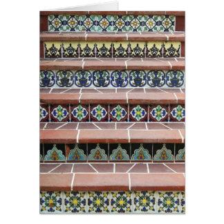 Escaleras de la teja del vintage