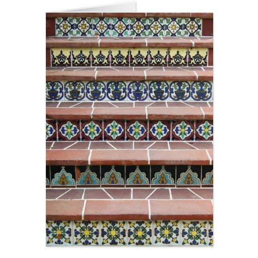 Escaleras de la teja del vintage tarjeta de felicitación