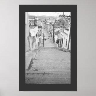 Escaleras de Santiago Póster