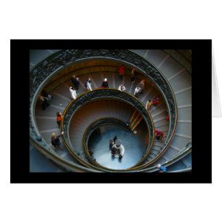 escaleras de vatican tarjeta de felicitación