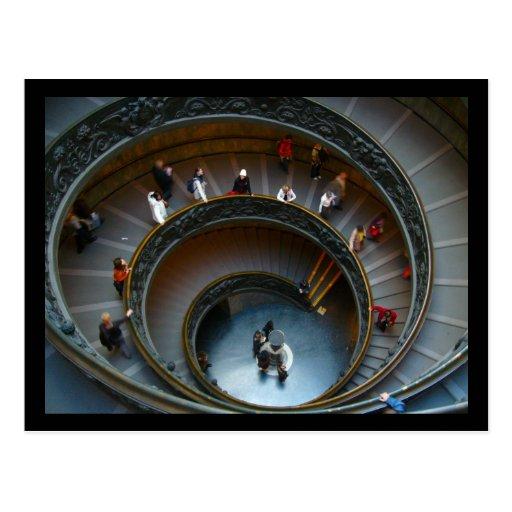 escaleras de vatican tarjetas postales