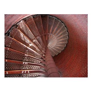 Escaleras del faro tarjetas postales