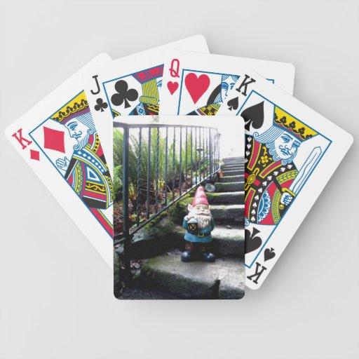 Escaleras del gnomo baraja cartas de poker
