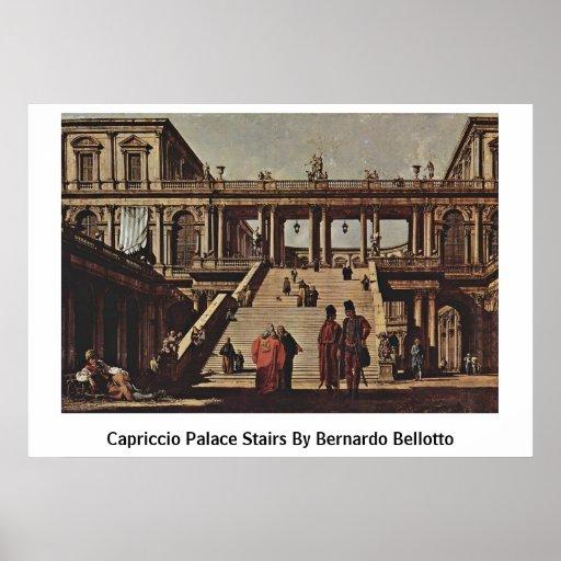 Escaleras del palacio del capricho de Bernardo Bel Póster