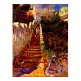 Escaleras en Algier de Pedro Renoir Tarjetas Postales