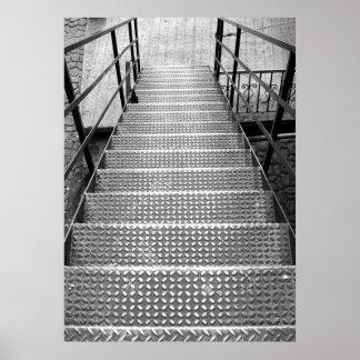 Escaleras en sabana póster