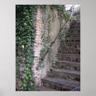 Escaleras espeluznantes de Georgia de la sabana Póster