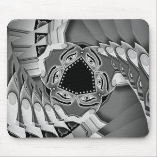 Escaleras espirales abstractas con los ojos en el  alfombrillas de raton
