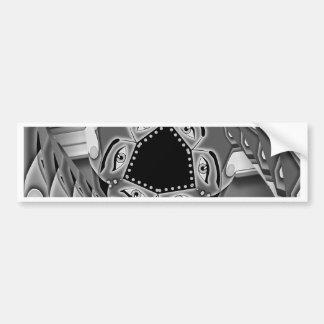 Escaleras espirales abstractas con los ojos en el  pegatina de parachoque