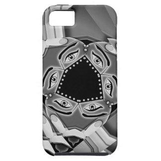 Escaleras espirales abstractas con los ojos en el iPhone 5 Case-Mate protectores