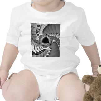 Escaleras espirales abstractas con los ojos en el  trajes de bebé
