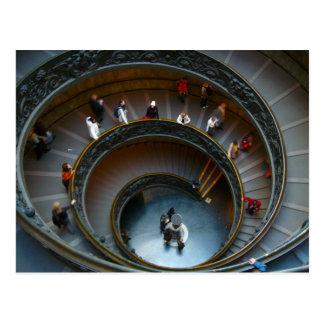 escaleras espirales de vatican tarjetas postales