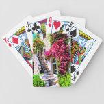 Escaleras y ventana cartas de juego