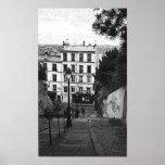 Escaliers de Montmartre Póster