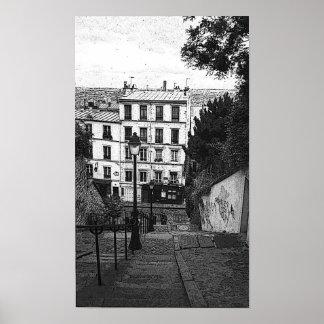 Escaliers de Montmartre Poster