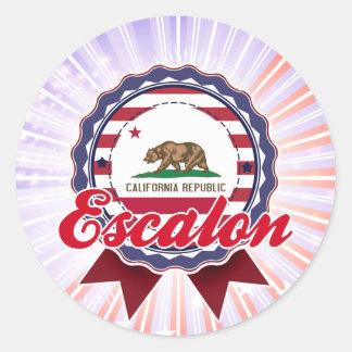 Escalon, CA Etiquetas Redondas
