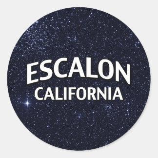 Escalon California Pegatinas Redondas