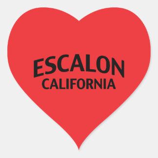 Escalon California Colcomanias De Corazon Personalizadas