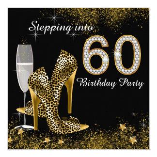 """Escalonamiento en fiesta de cumpleaños 60 invitación 5.25"""" x 5.25"""""""