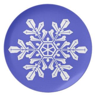 Escama azul de la nieve de la placa plato