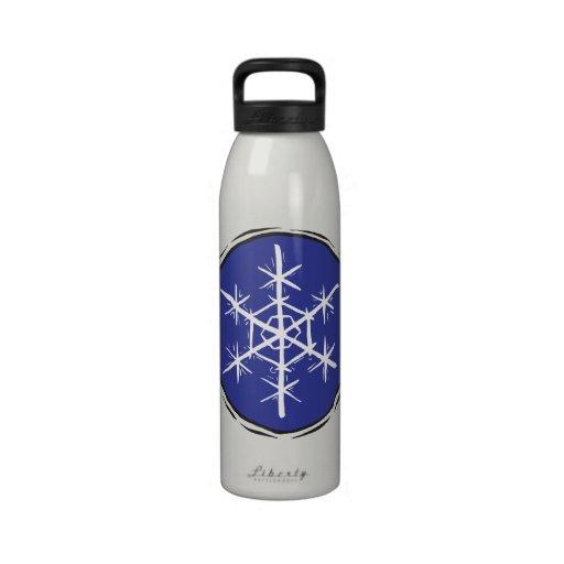 Escama de la nieve botellas de agua reutilizables
