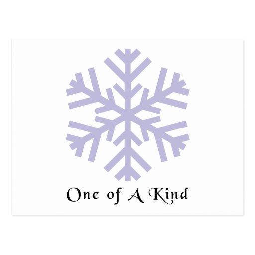 Escama de la nieve del navidad tarjetas postales