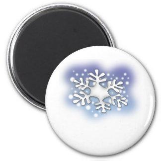 escama de la nieve imán redondo 5 cm