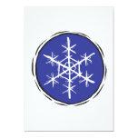 Escama de la nieve invitación 12,7 x 17,8 cm