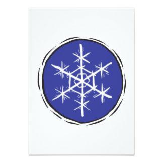 """Escama de la nieve invitación 5"""" x 7"""""""