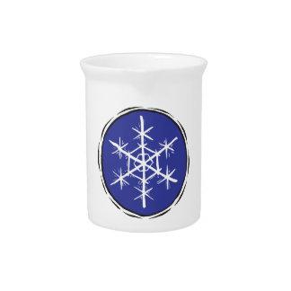 Escama de la nieve jarras para bebida