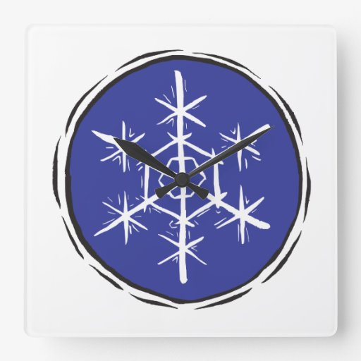 Escama de la nieve reloj cuadrado