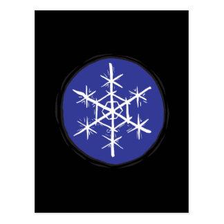 Escama de la nieve tarjeta postal
