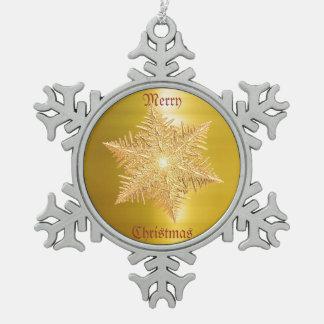 Escama de oro brillante del metal adornos