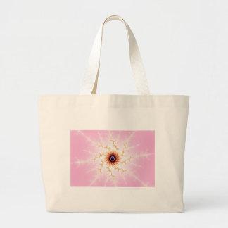 Escama del hielo - bolso rosado del fractal bolsa lienzo