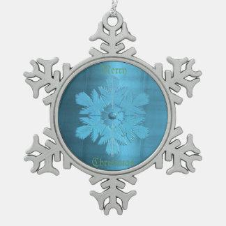 Escama del metal de los azules del invierno adorno
