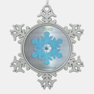 Escama del metal de los azules del invierno adornos