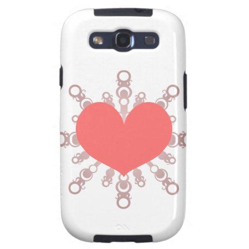 Escama IV del corazón Galaxy S3 Carcasa