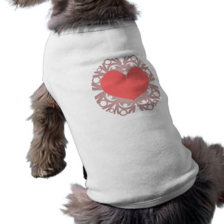 Escama VI del corazón Playera Sin Mangas Para Perro