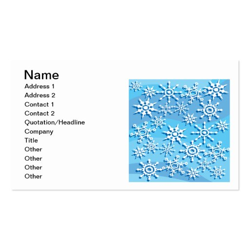 Escamas 2 de la nieve plantilla de tarjeta de negocio