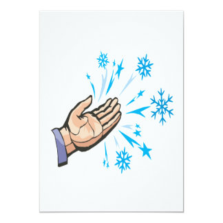 """Escamas de cogida de la nieve invitación 5"""" x 7"""""""