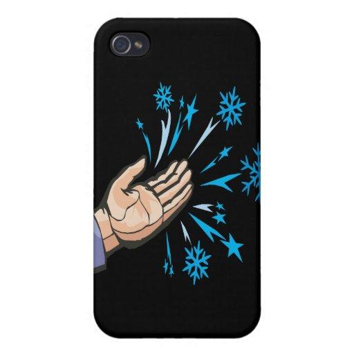 Escamas de cogida de la nieve iPhone 4 funda