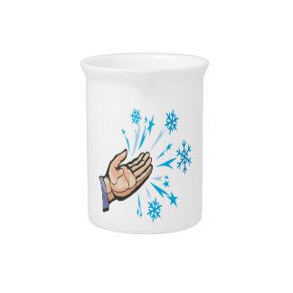Escamas de cogida de la nieve jarras