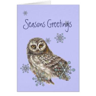 Escamas de la nieve de los saludos de la estación  tarjeta de felicitación