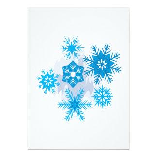 """Escamas de la nieve invitación 5"""" x 7"""""""