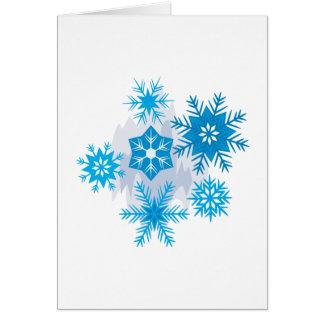 Escamas de la nieve tarjeta de felicitación