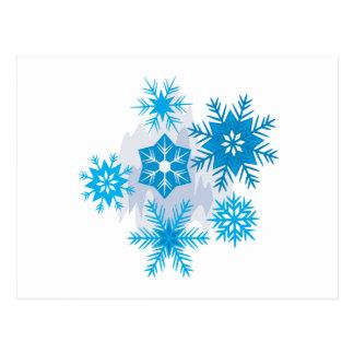 Escamas de la nieve tarjetas postales