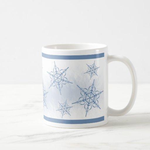 Escamas de la nieve taza