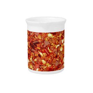 Escamas rojas del chile jarra para bebida