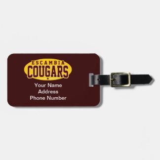Escambia Academy; Cougars Luggage Tag